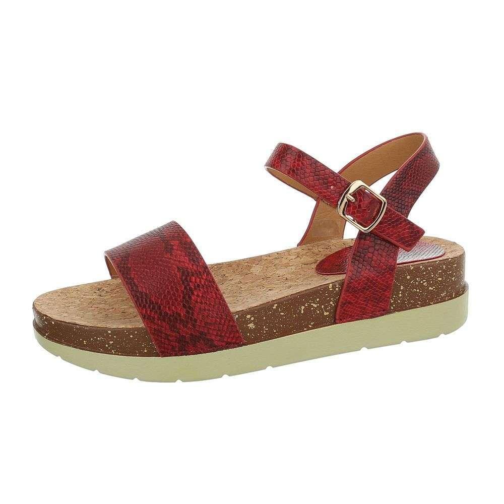 2048cb81285d Pohodlné sandále XENIA TOP-1008-red