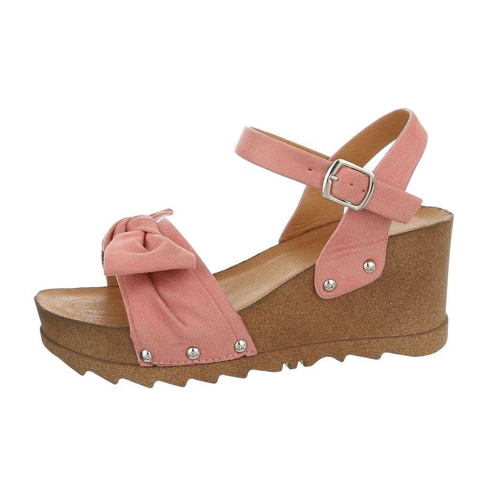 f7ae93649d Sandále na platforme TOP-1022-pink