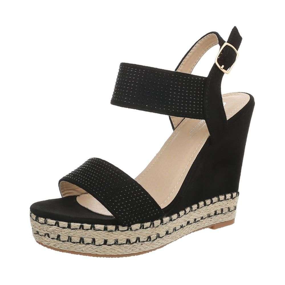 d612a5745fe7 Dámske sandále na platforme TOP-3811-7-black