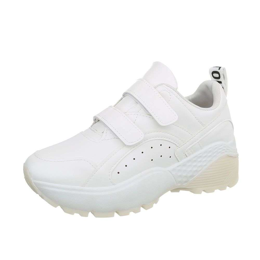 199a7c536 Dámske botasky na hrubej podrážke TOP-66016-white