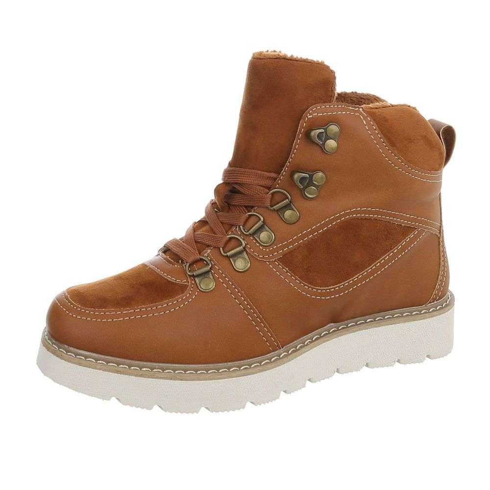 Hnedé zateplené topánky TOP-769-PA-camel bcaa03ef142