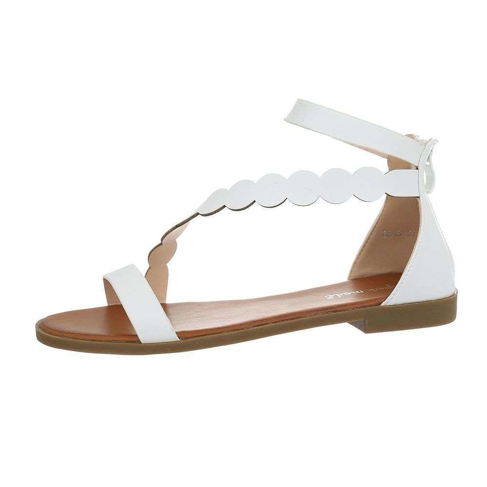 d8df383ebc14 Biele dámske sandále TOP-8643-white