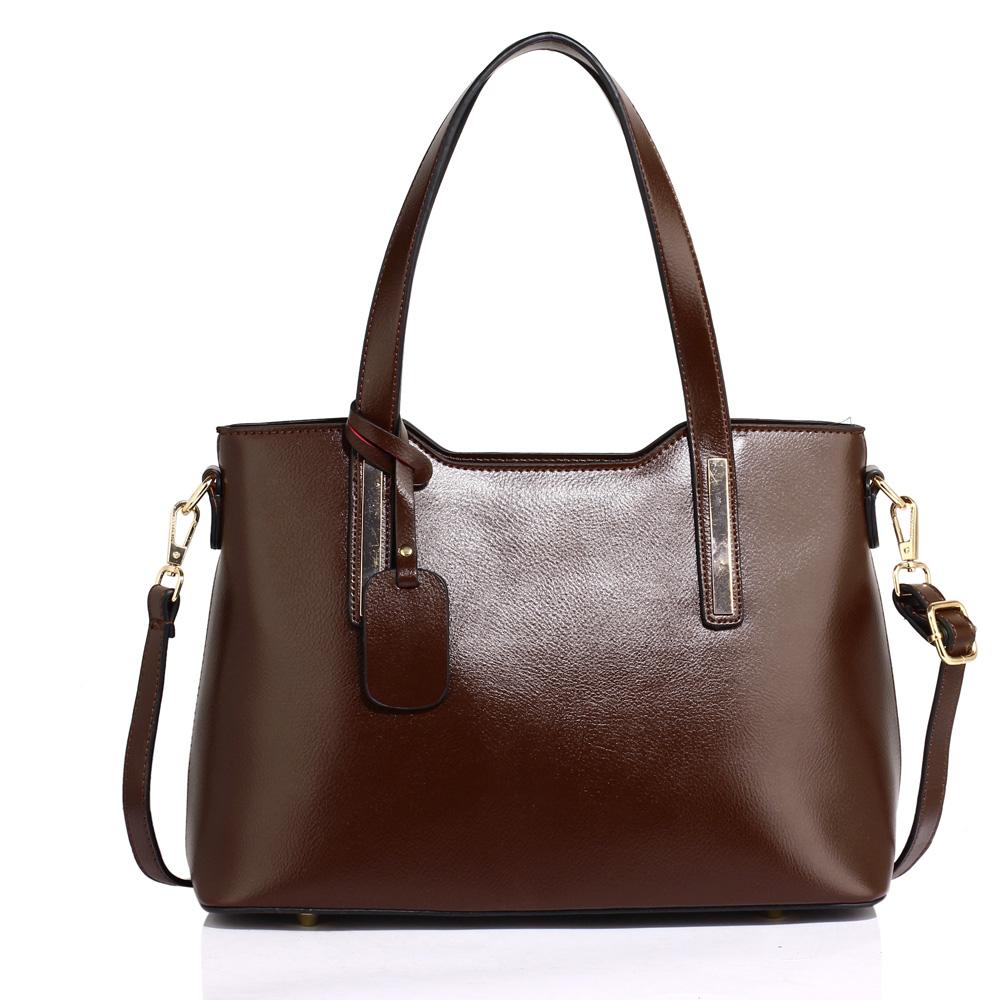 Luxusná kabelka na rameno AG00528-coffee e4b0d02e184