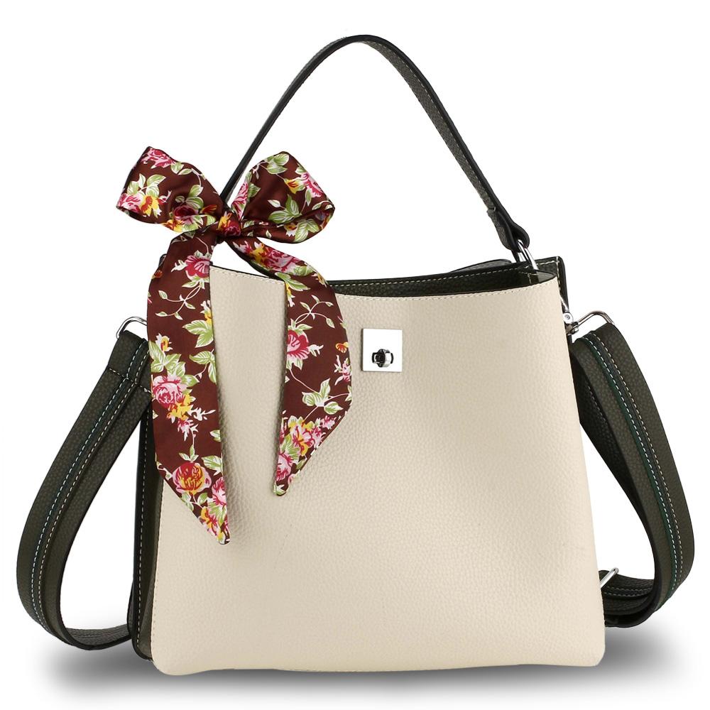 d269f1ad5 Trendy kabelka so šatkou AG00682-beige/olive