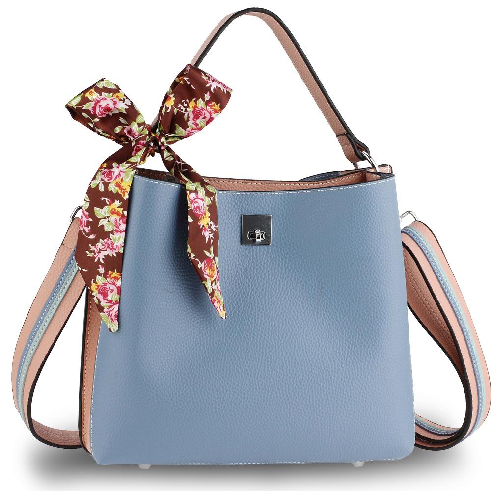 1f545aad03 Trendy kabelka so šatkou AG00682-blue nude