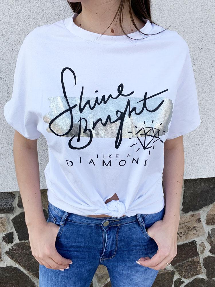 bec622705fc4 Dámske tričko s potlačou NK-DIAMOND-SHORT-white