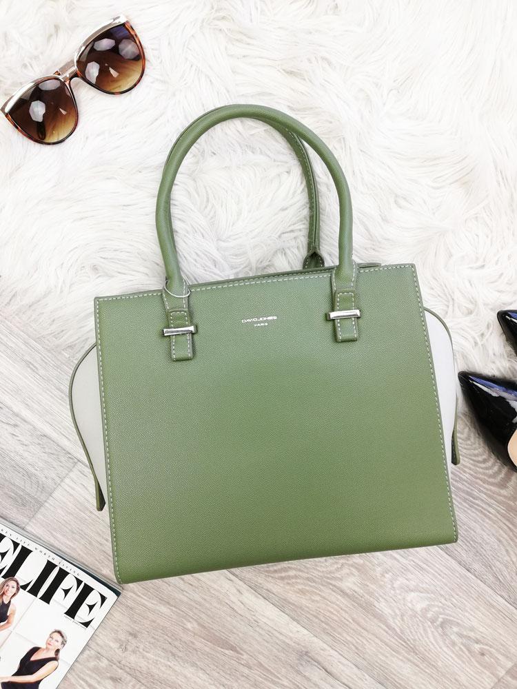 Zelená kabelka do ruky David Jones CM-5013-green a2627a1da88