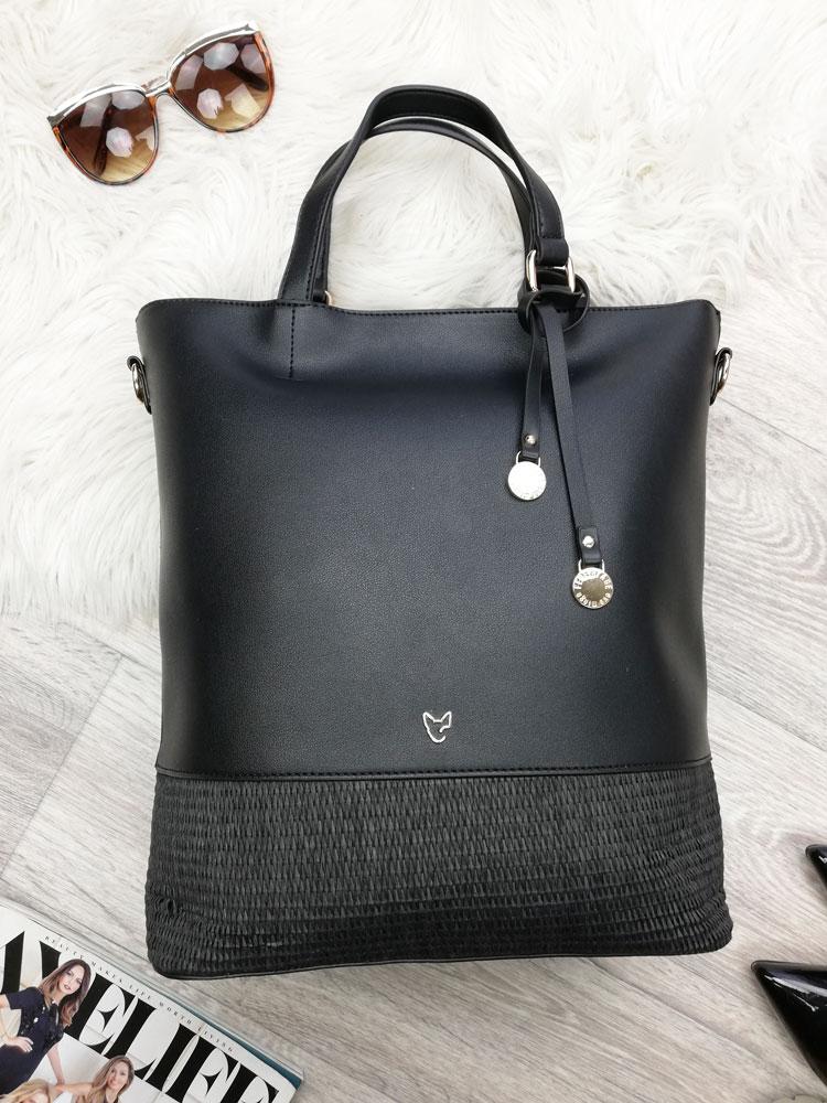 d0fccde557 Čierna kabelka do ruky EVA MINGE EM-63774-99X-black