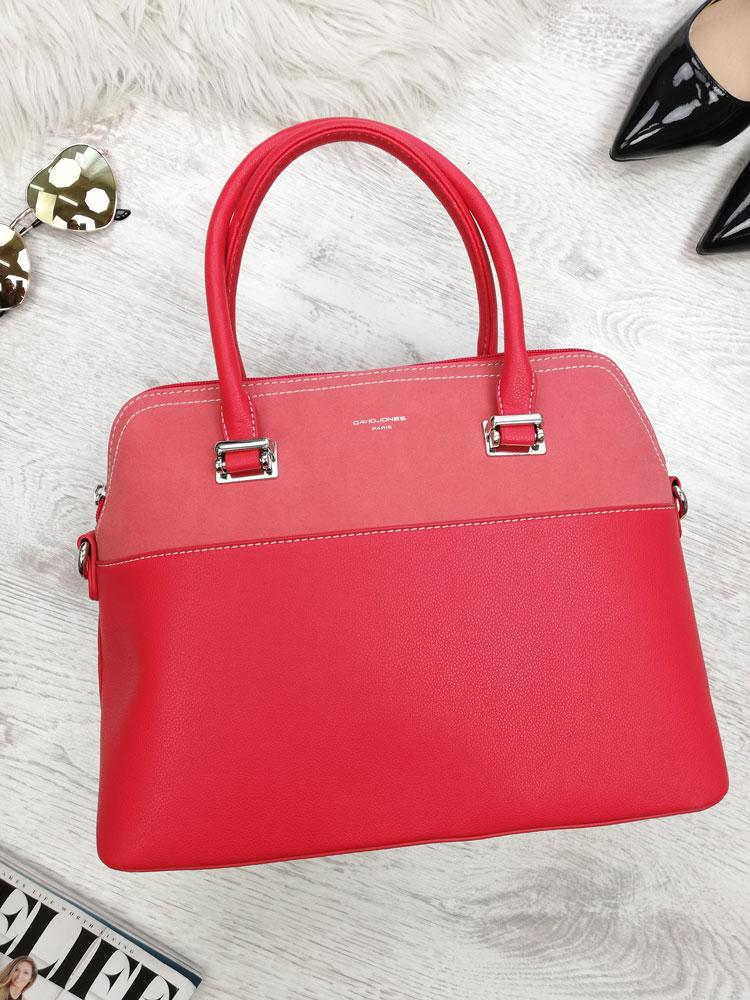 f619c31020 Červená kabelka do ruky David Jones CM-5909-1-red
