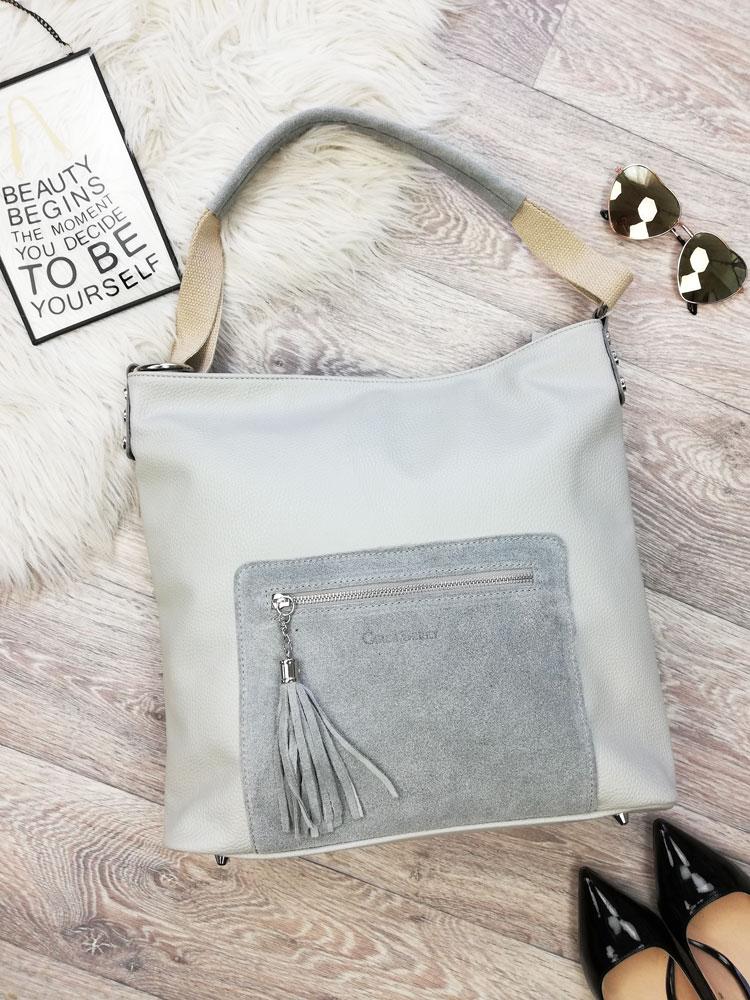 606efbd19f Sivá kabelka na rameno Carla Berry CB-H-119-grey