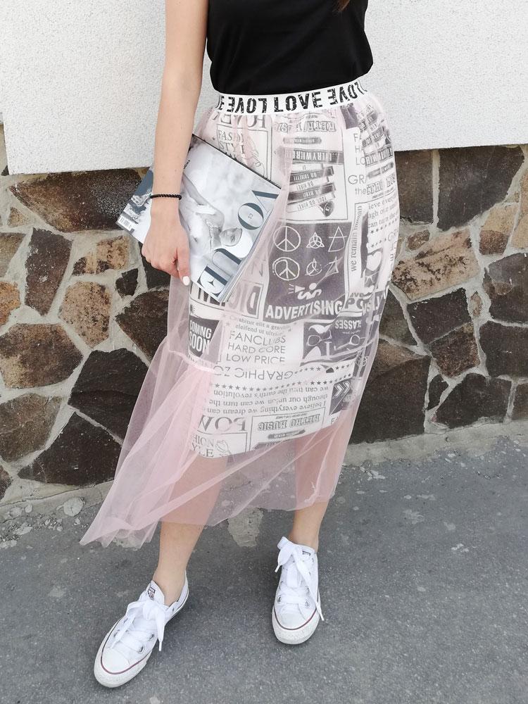 7903803761d0 Dámska sukňa s tylom NK-0331-pink