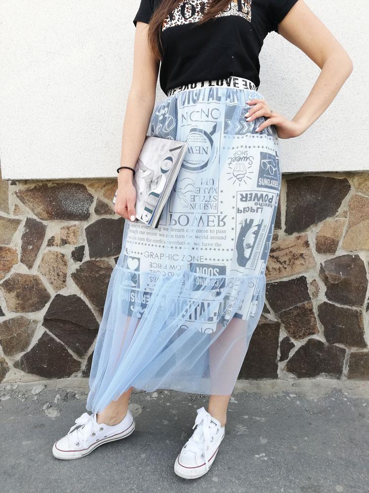 f4288b3f4429 Dámska sukňa s tylom NK-0331-blue