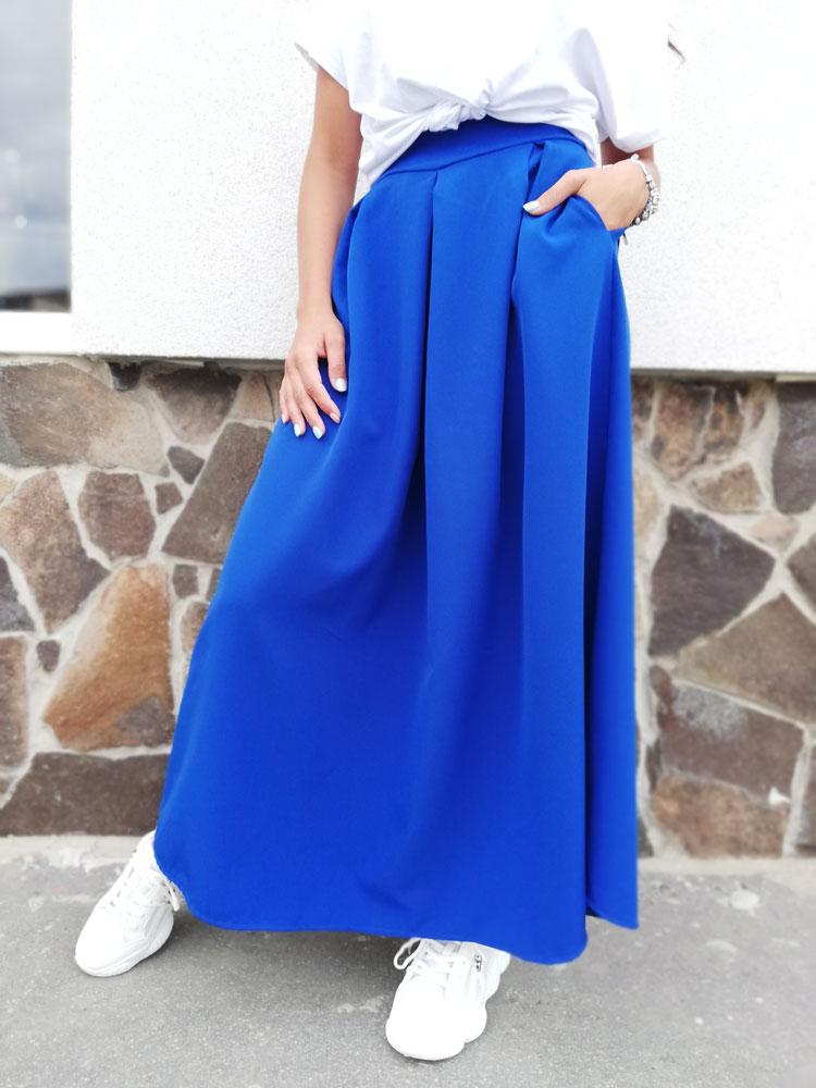 a6187359a564 Dlhá dámska sukňa NK-LONGSKIRT-blue