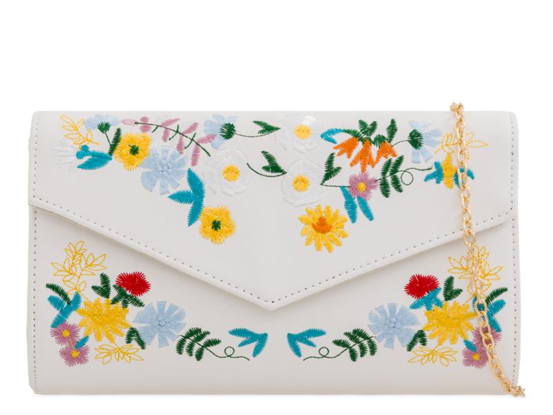 943d051df Vyšívaná listová kabelka FOLKLÓR DKO-2171-white