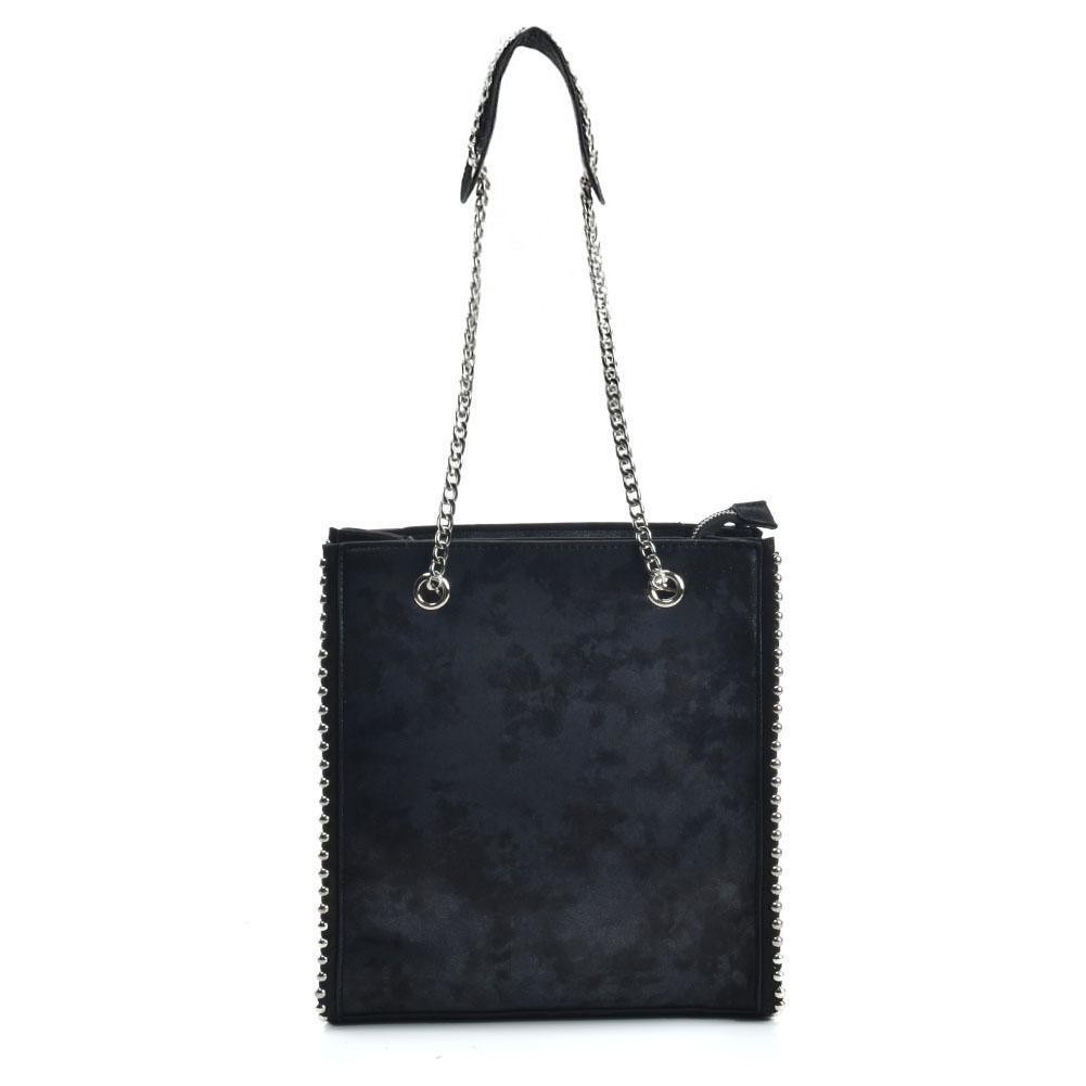 8cb2937dff Metalická kabelka na rameno s retiazkou DKA-VK5474-black
