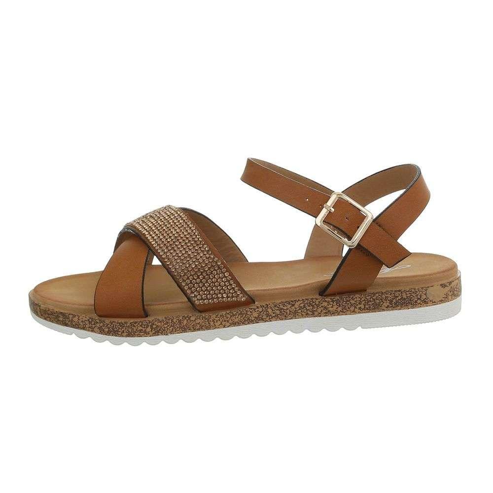 20fdf32feee1 Hnedé dámske sandále TOP-D-116-camel