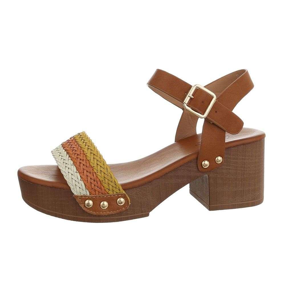9e264b7840035 Sandále na drevenom opätku TOP-D-133-white
