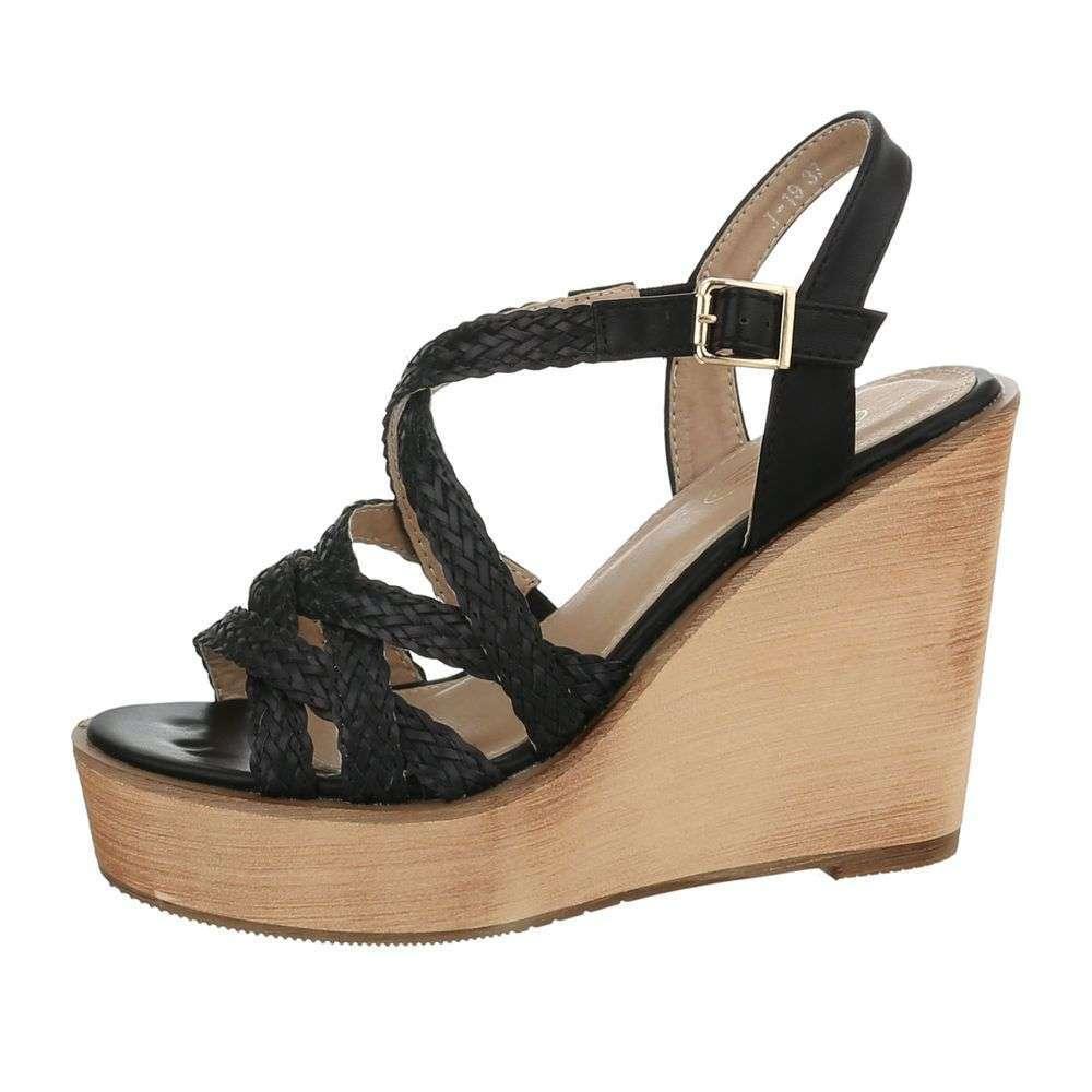 c51eb7811e1a Sandále na platforme TOP-J-19-1-black