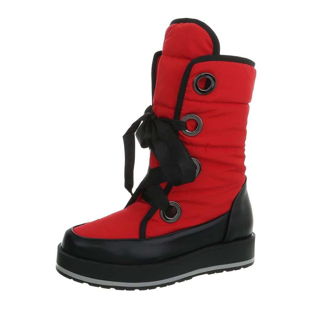 b47cf7f50037 Akcia. Dámske snehule TOP-JU1346-red