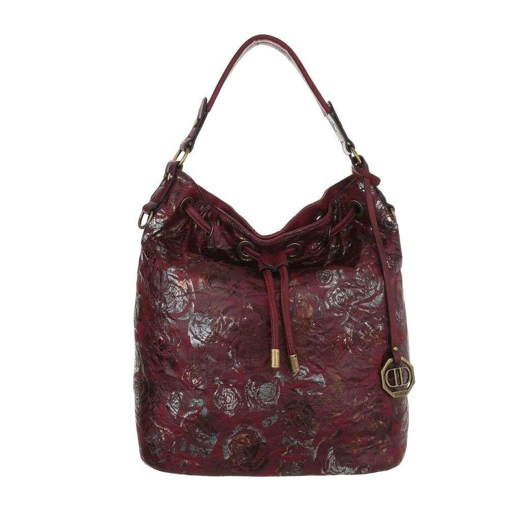 Tmavočervená kabelka na rameno VSGL-2335-354-red 2f52d3ac559