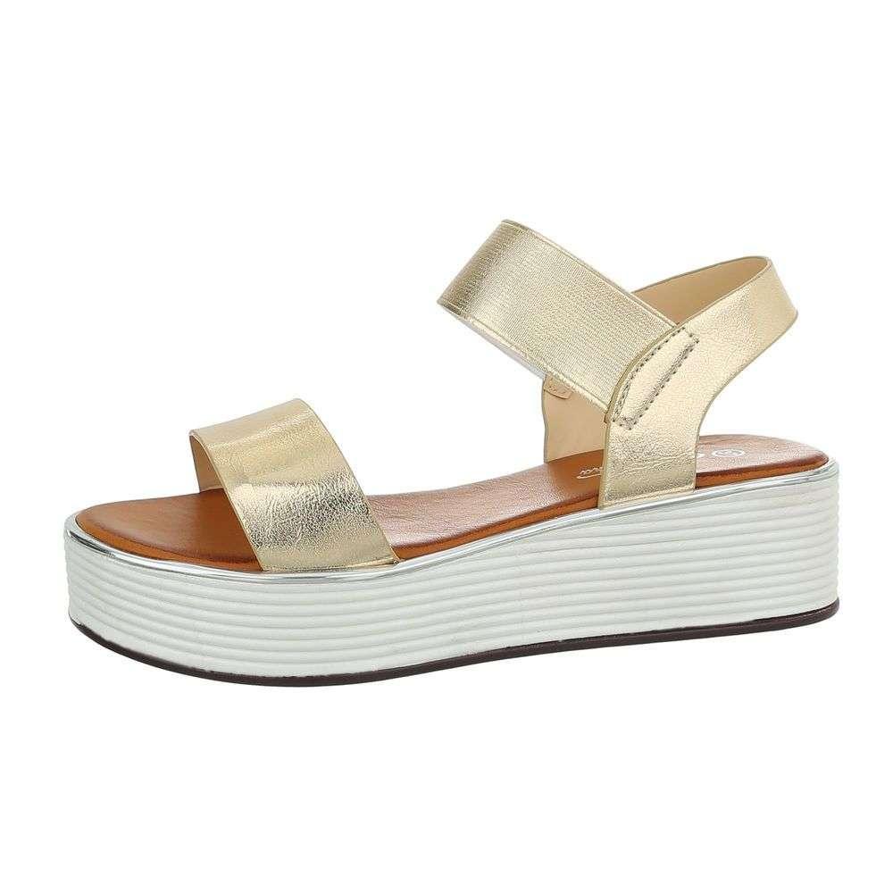 8b84228bd9d4 Sandále na platforme TOP-TS-17-gold