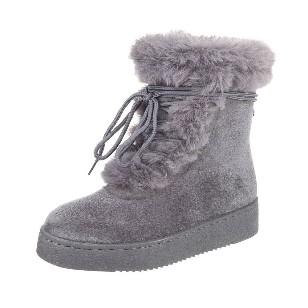 b8daef78cc547 Členkové topánky kožušinou TOP-5109-1-grey