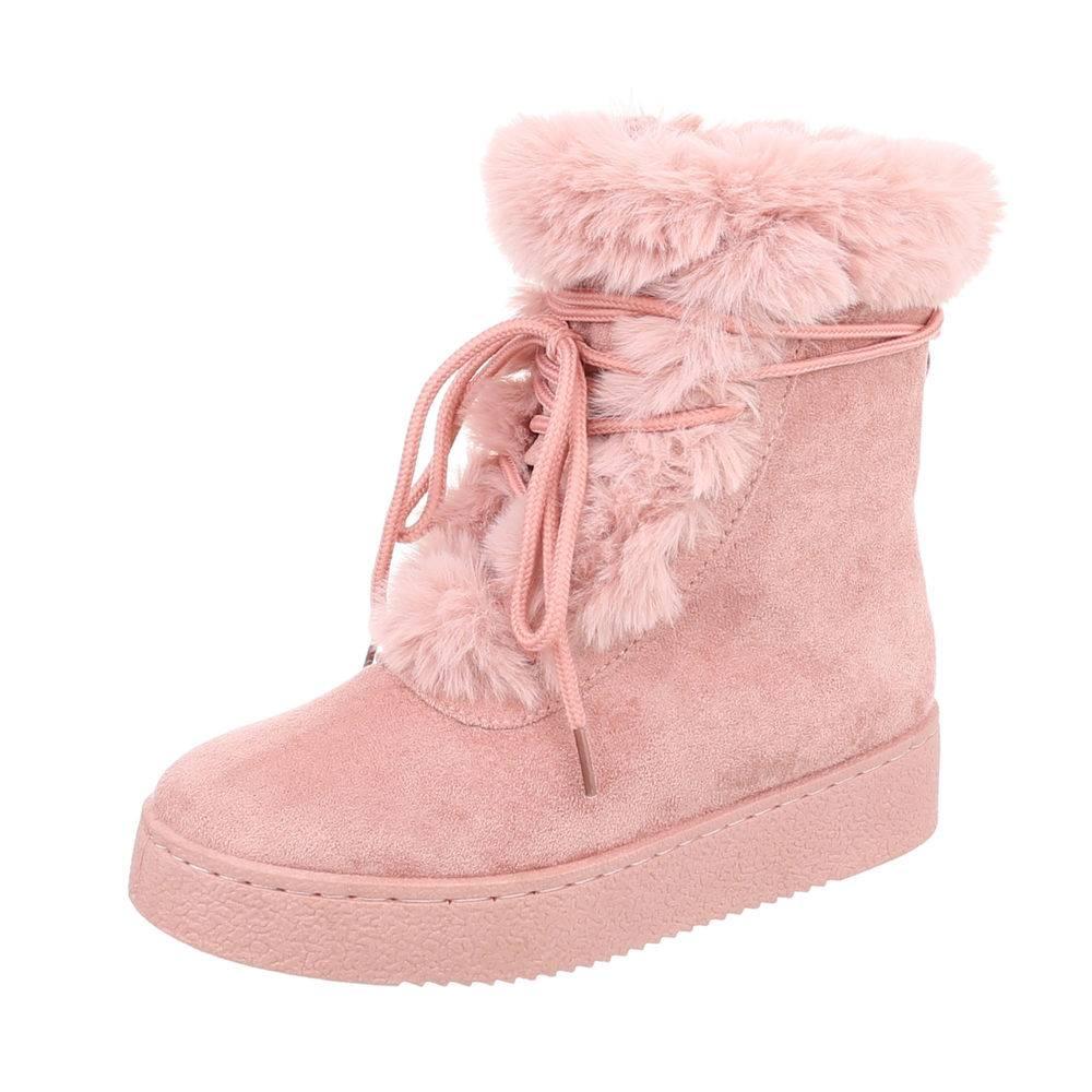 ff67a6fa516e5 Členkové topánky kožušinou TOP-5109-1-pink