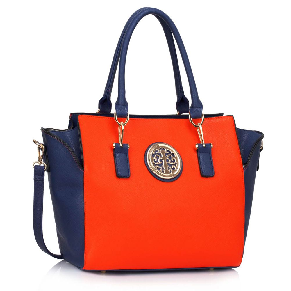 Kabelka do ruky DK00353-blue/orange