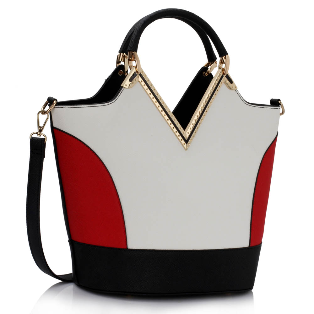 Kabelka do ruky DK00379A-black/white/red