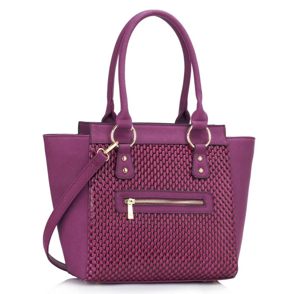 df3fb812b8 Štýlová kabelka ZIPPER LUX DK00414-purple empty