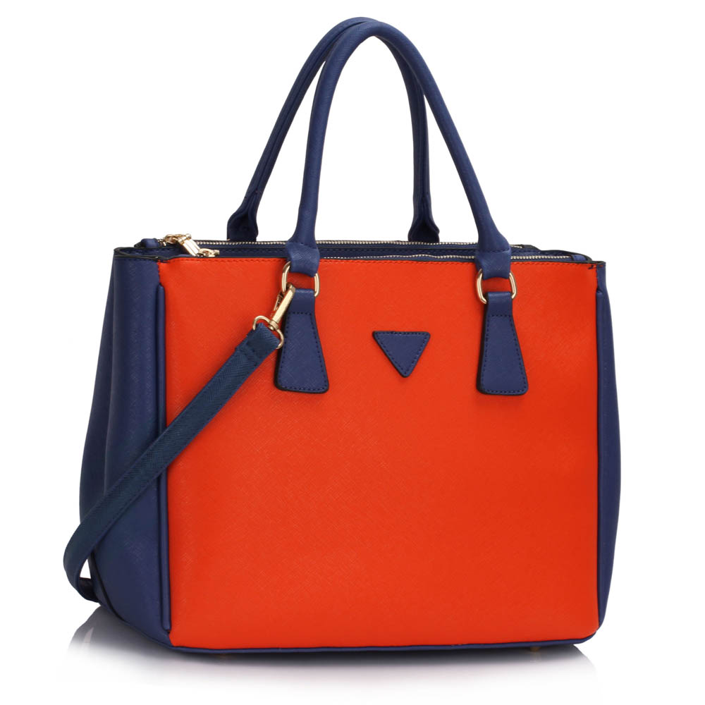 Kabelka do ruky  DK00260-blue/orange