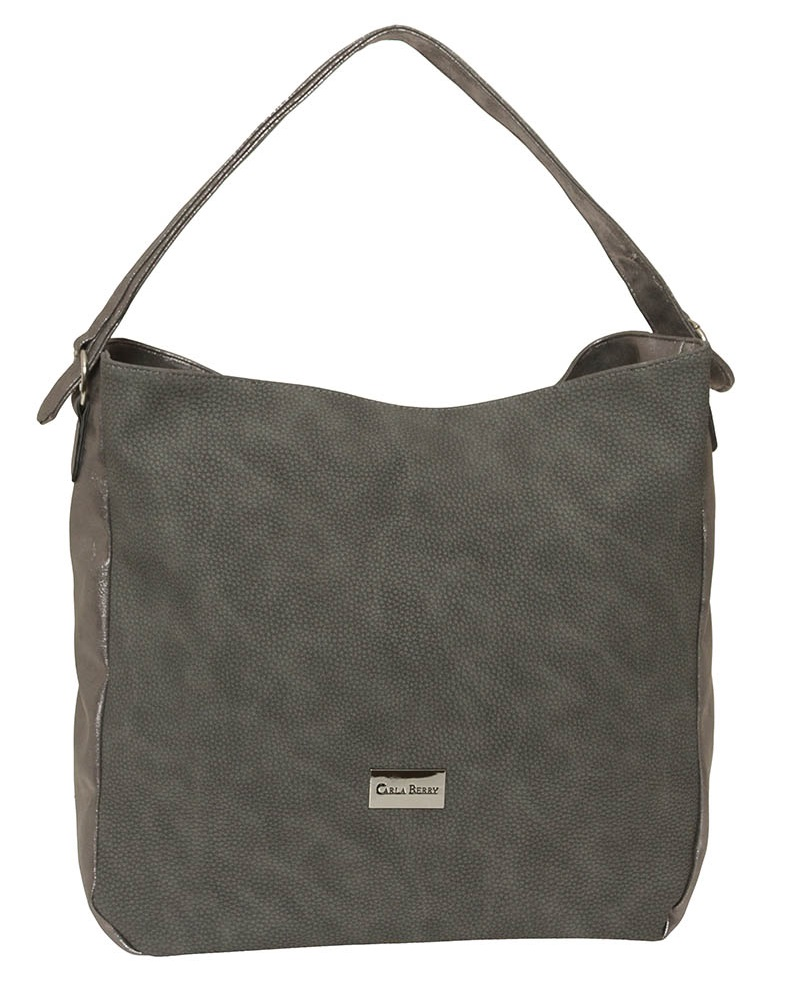 Sivá shopper kabelka Carla Berry CB-1622-grey