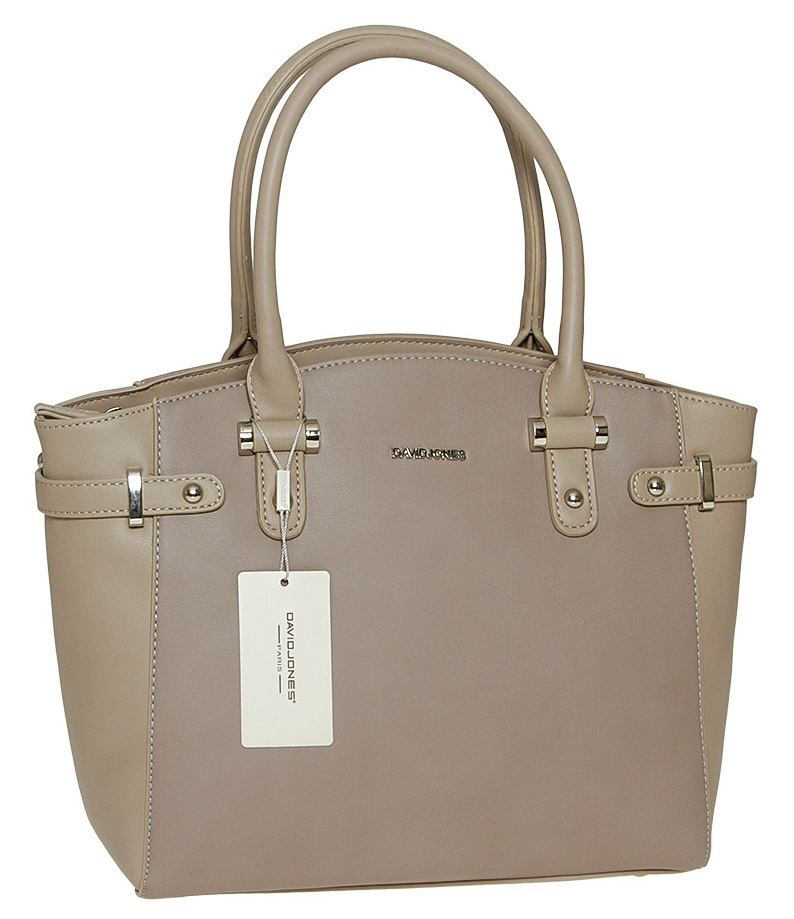 Hnedá kabelka do ruky David Jones CM5549-2-taupe/camel