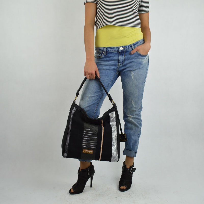 Čierna shopper kabelka na rameno David Jones CM3454-black