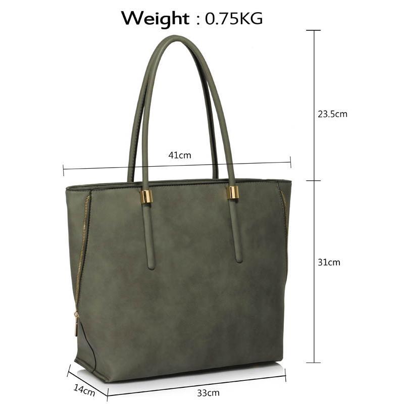 Sivá shopper kabelka na rameno DK00494-grey 7ee6c924823