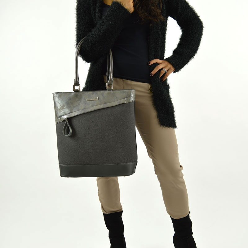 Sivý shopper Monnari MON6780-grey