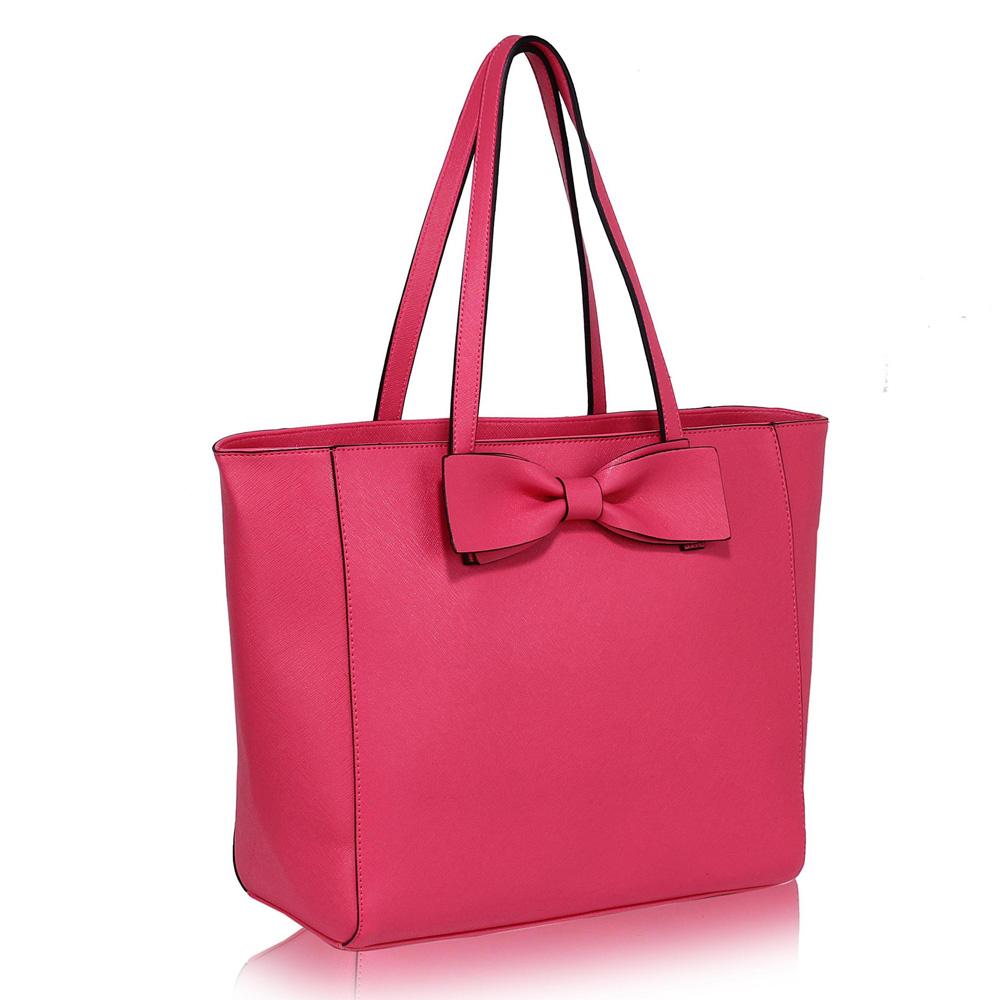 Fuchsiová shopper kabelka na rameno DK00275x-fuchsia f25da46ef69