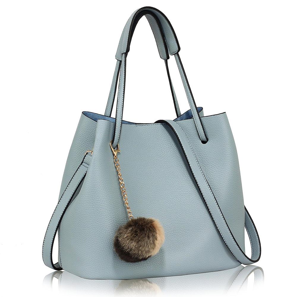 Bledomodrá kabelka do ruky 2v1 DK00190-blue 9e048e886d5