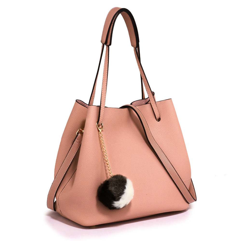 Ružová kabelka do ruky 2v1 DK00190-pink 41378006671