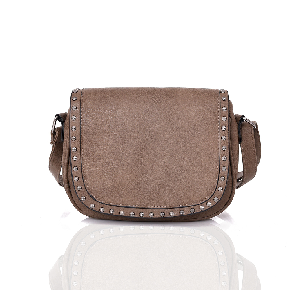 Tmavá hnedá crossbody kabelka na rameno DJC-396-khaki empty 2af507ce656