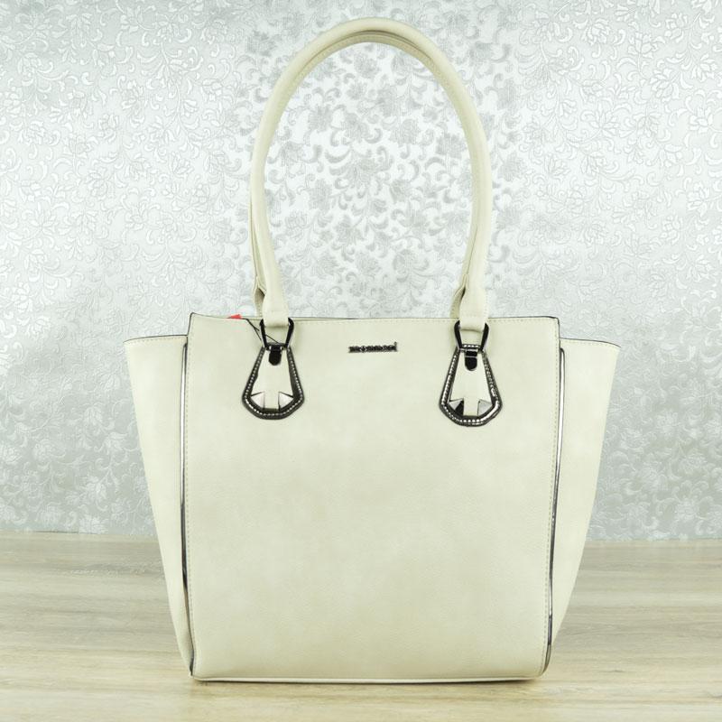 Sivo-béžová kabelka na rameno MONNARI MON-0820-015-beige empty 0164f156dc5