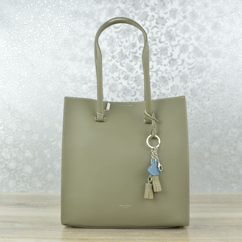 Elegantná kabelka 2v1 David Jones CM-3711-khaki
