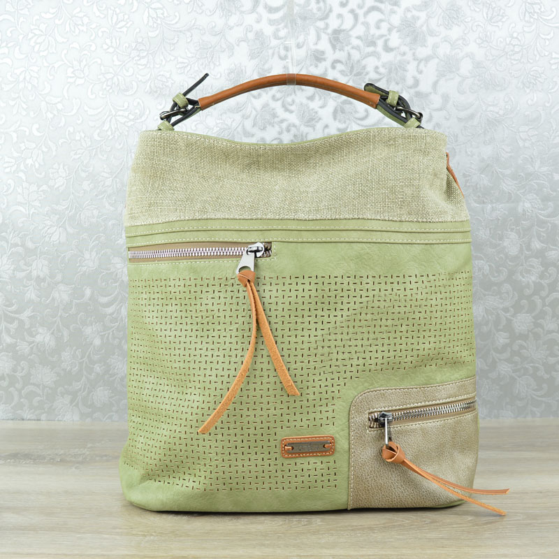 Shopper kabelka na rameno David Jones CM-5779-1-khaki