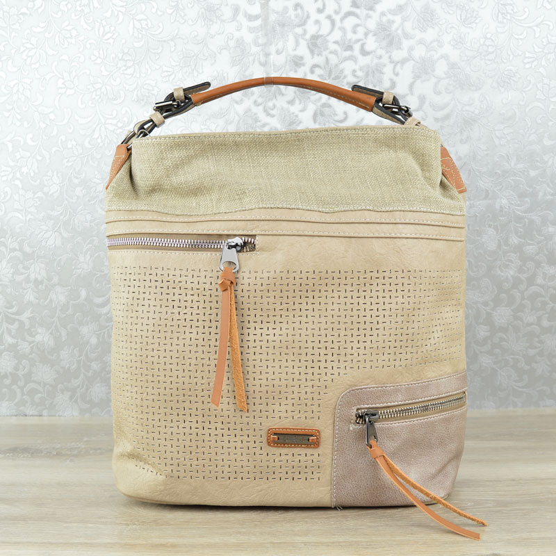 Shopper kabelka na rameno David Jones CM-5779-1-camel