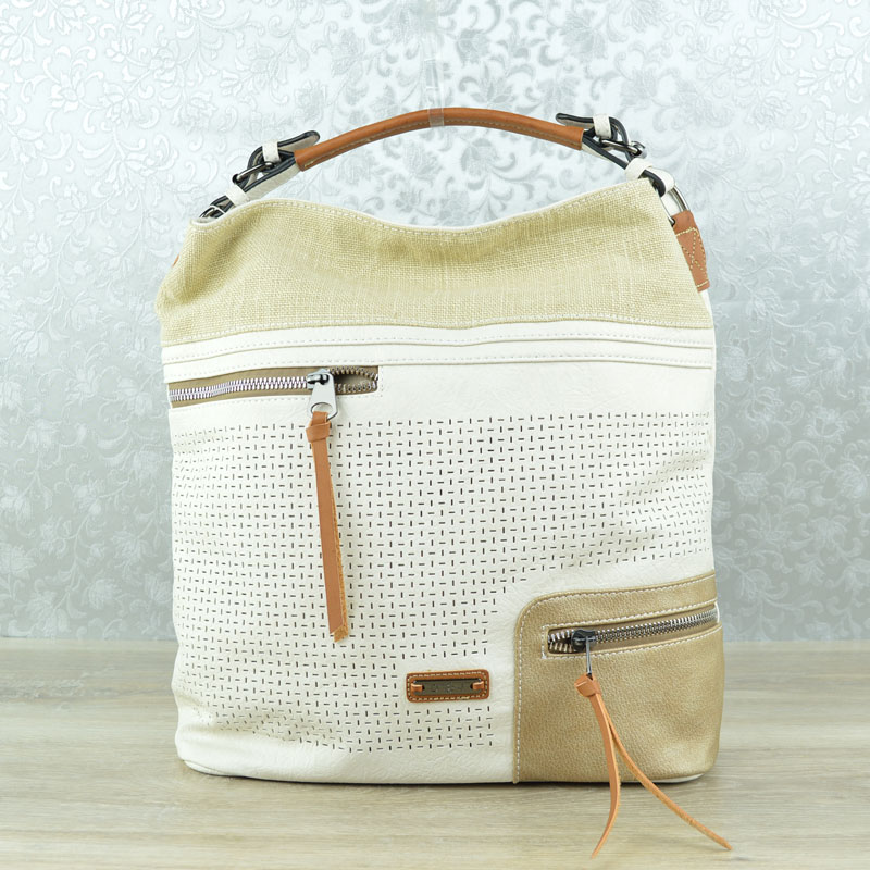 Shopper kabelka na rameno David Jones CM-5779-1-beige
