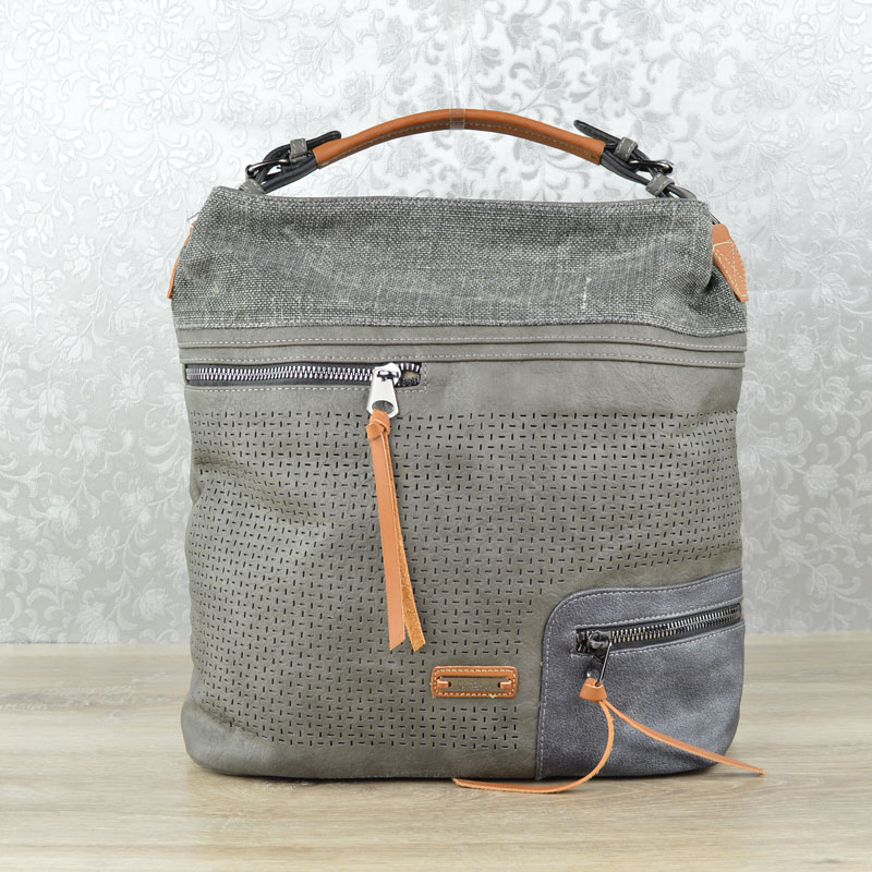 Shopper kabelka na rameno David Jones CM-5779-1-black grey