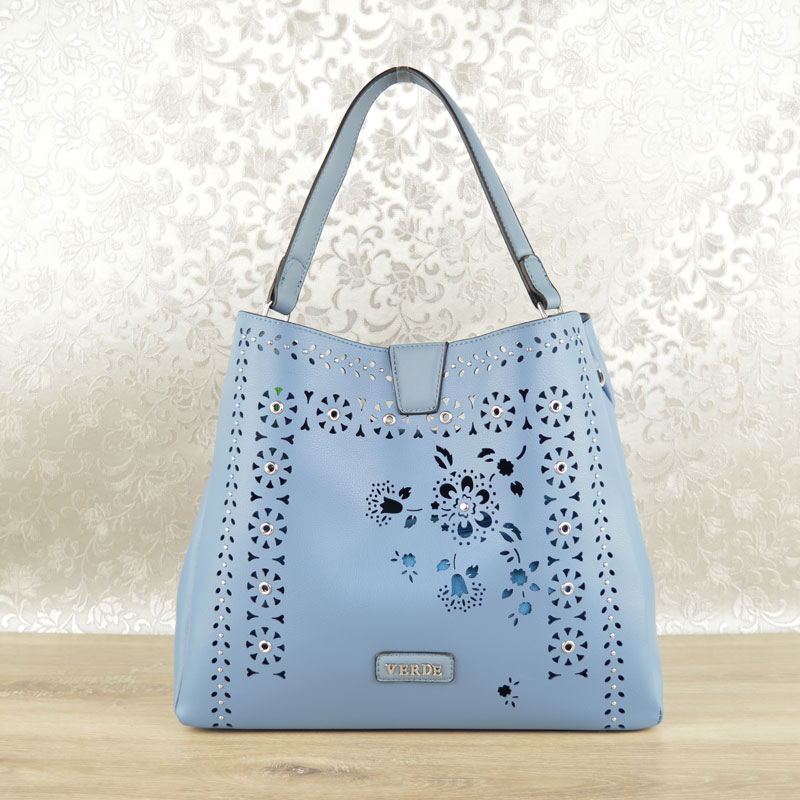 3ac9422d0 Vyrezávaná kabelka VERDE VD-16-0004770-blue