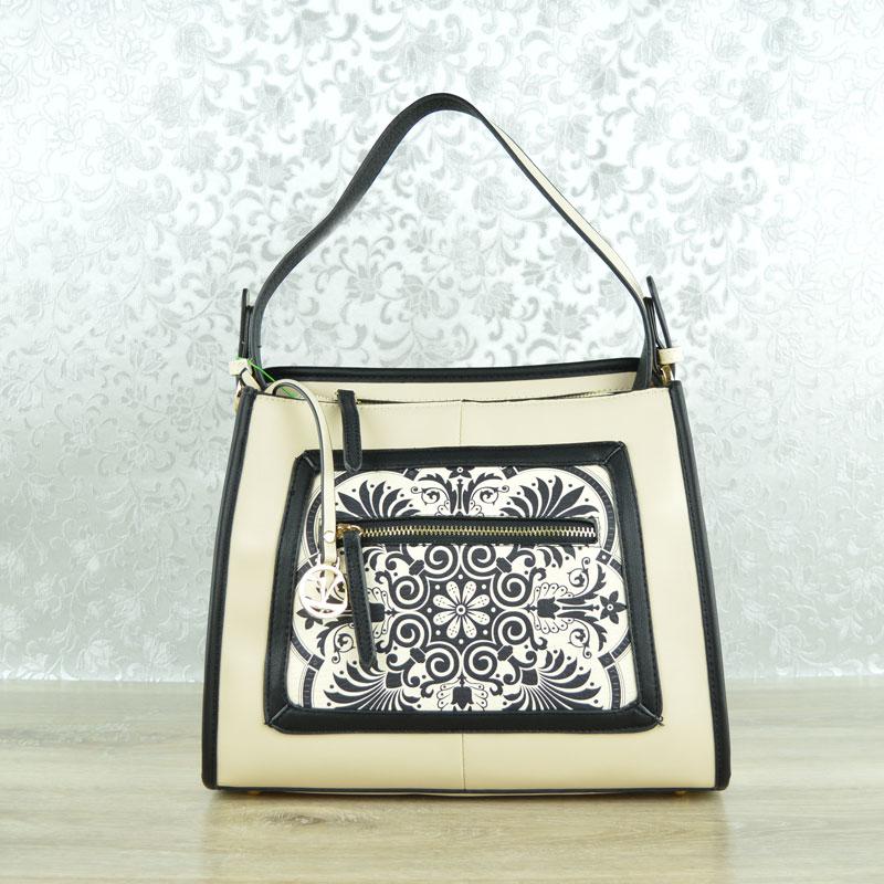 46d1808ae8 Luxusná kabelka na rameno Verde VD-16-0004618-beige