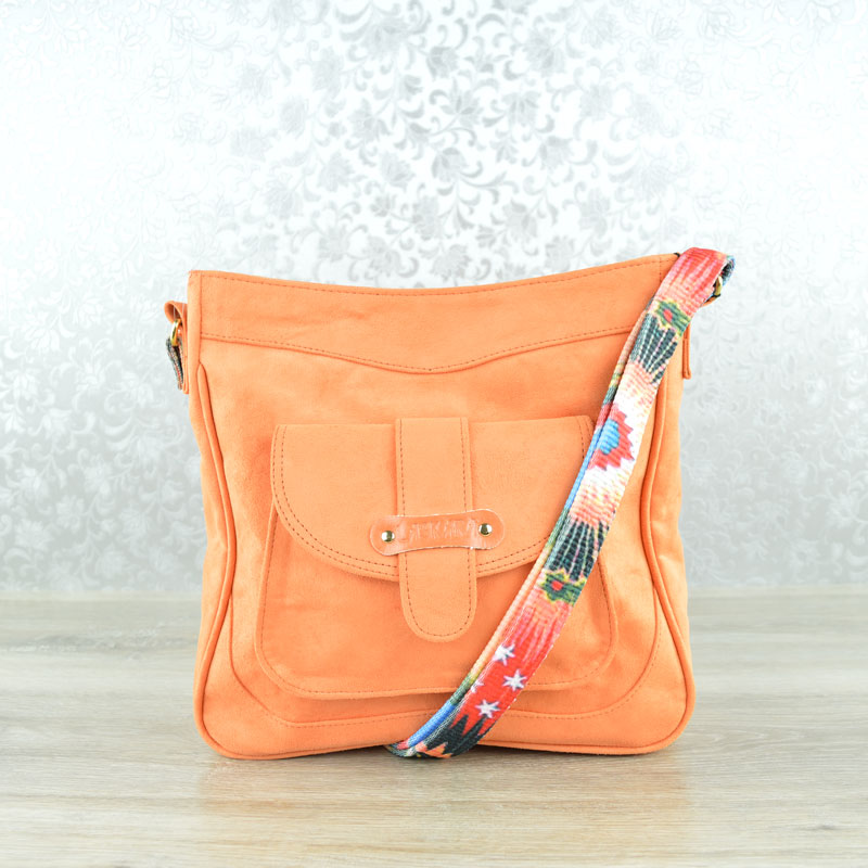 Trendy crossbody kabelka Laskara LK-11-10146-orange