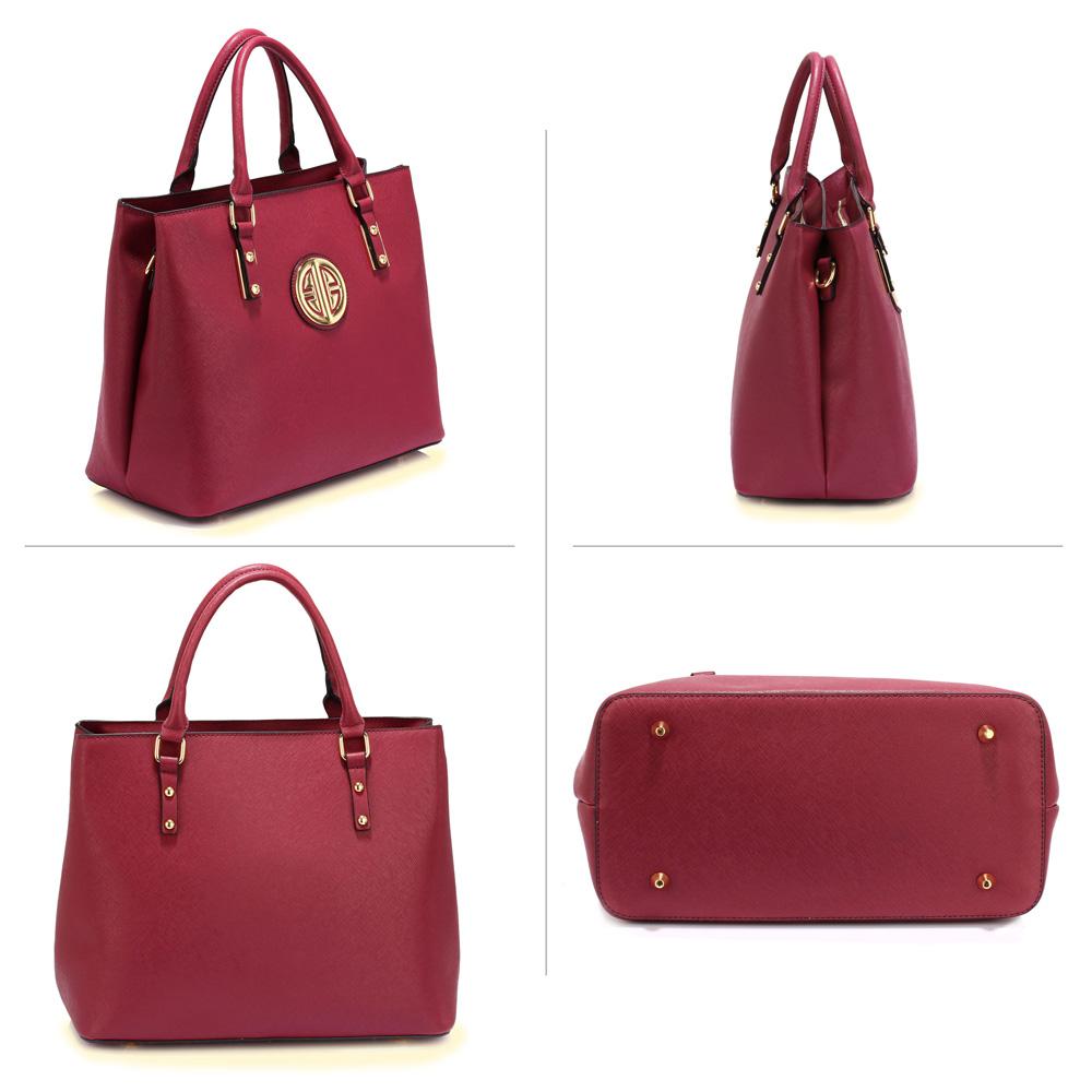 573693a2e918c Bordová kabelka do ruky DK00472-burgundy